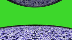 20 disco blue greenscreen Stock Footage