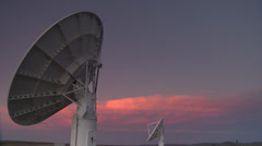 Radio telescopes timelapse moving,South Africa Stock Footage