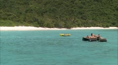 Man in speed boat - stock footage