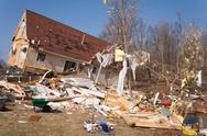 Stock Photo of Tornado aftermath in Lapeer, MI.