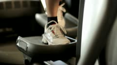 Exercising in gym Stock Footage