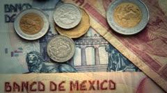 Mexican Pesos 1 - stock footage