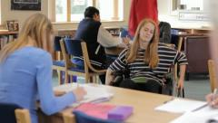 Disabled student - stock footage