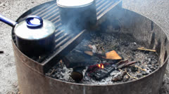 Small campfire - stock footage