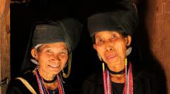 Ann Tribe women, Myanmar - stock footage