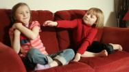 Stock Video Footage of Sisters squabble