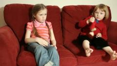 Sisters squabble Stock Footage