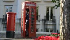 British red phone box Stock Footage