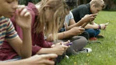 Teens on phones - stock footage