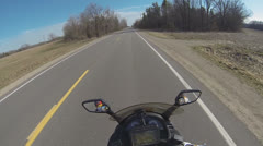 POV of Motorcycle Rider Part 6 Stock Footage