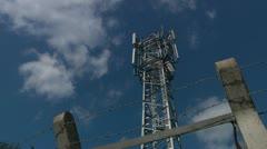 Mobile phone mast Stock Footage