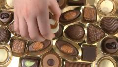 Box of Chocolates Stock Footage