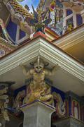 fantasy statue at pariwart temple - stock photo