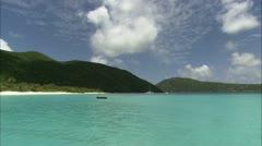 Pan across Guana Landscape from peer - stock footage