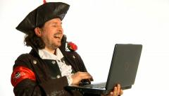 Internet pirate - stock footage