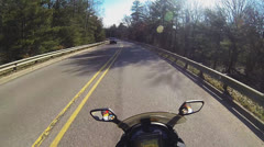 POV of Motorcycle Rider Part 5 Stock Footage