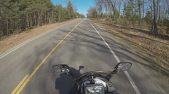 POV of Motorcycle Rider Part 4 Stock Footage