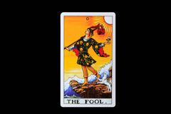 tarot card the fool - stock photo