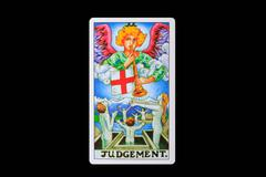 tarot card judgement - stock photo
