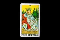 tarot card the empress - stock photo