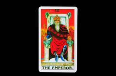 tarot card  the emperor - stock photo