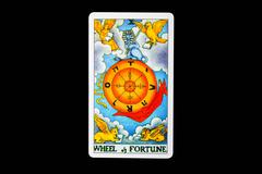tarot card whell of fortune - stock photo