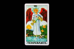 tarot card temperance - stock photo
