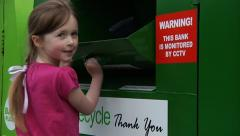 Child recycling Stock Footage