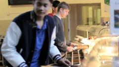 School food - stock footage