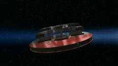 Alien spacecraft 1 Stock Footage