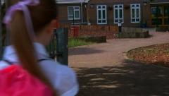 Arriving for school - stock footage