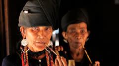 Ann Tribe women, Burma - stock footage