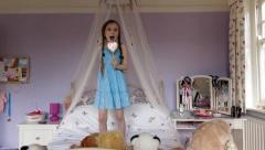 Child popstar - stock footage
