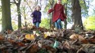 Stock Video Footage of Children in fall