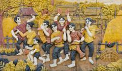 Thai soittimia stukkotöillä Kuvituskuvat
