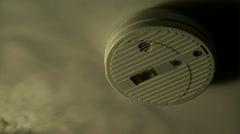 Smoke alarm - stock footage