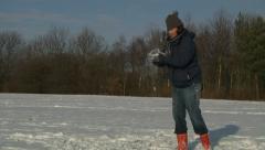 Snowball - stock footage