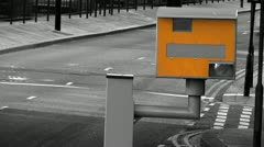 UK traffic speed camera Stock Footage