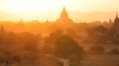 Temples and Pagodas, Myanmar Stock Footage