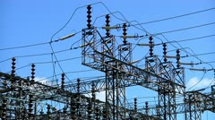 Electricity substation Stock Footage