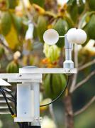 An anemometer in nature at a meteorological station Stock Photos