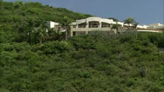 Zoom out from villa to ruins, Guana Stock Footage