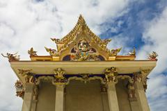 New style of thai temple at pariwart temple Stock Photos