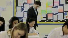 High school classroom Stock Footage