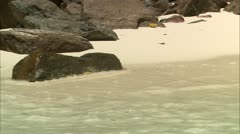 CU waves on shore Stock Footage