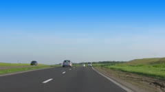 Steppe road Stock Footage