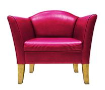 red armchair isolated - stock photo