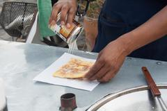 "Southern flat bread ""roti"" Stock Photos"