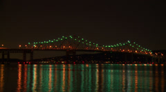 Tappan Zee Bridge Night Timelapse 1 Stock Footage