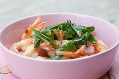 Fried shrimp Stock Photos